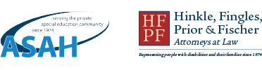 Hinkle, Fingles, Prior and Fischer and ASAH logos together